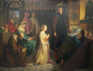 Petrarca en Laura te Avignon - Josef_Manes_Laura