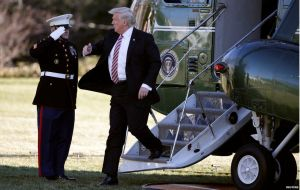 Donald Trump Stairs